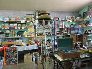 garage sale indoor liquidation tools generator shop yard antique