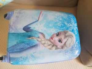Heys hard case carry luggage on with princess Elsa from Frozen.