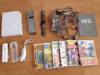 Nintendo Wii console plus games - bargain £29