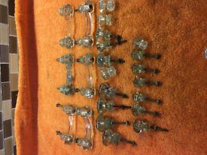 23 Antique Glass Cabinet Handles