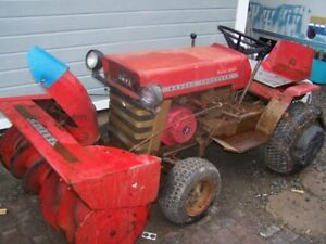 Massey Fergusion Tractor with snow blower.