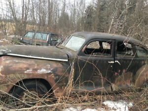 old dodge car with suicide doors