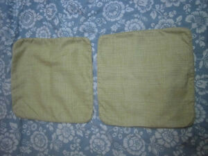 2 Yellow cushion cover