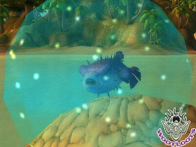 Bloat the Bubble Fish Loot Card World of Warcraft Rare Purple Puffer Pet WoW TCG