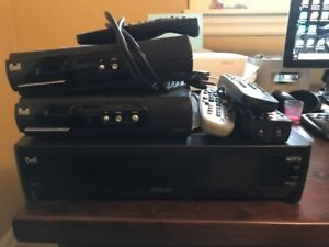 Bell PVR cable box and 2 reg boxes
