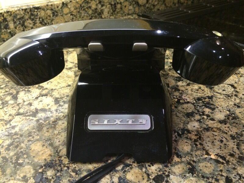Sagemcom Sixty Retro Cordless Phone Sagemcom Sixty Cordless Black