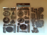 Assorted Rubber and Photopolymer Stamps