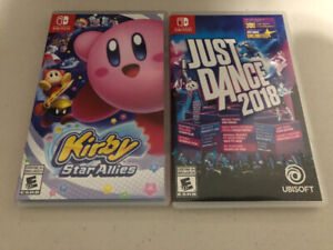 Nintendo games (Kirby and Just Dance 2018) for sale 70