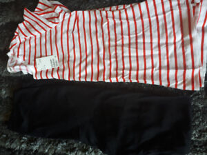 Size Medium maternity T-shirt and leggings