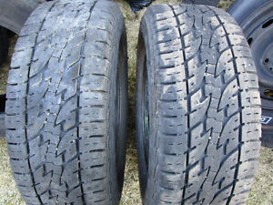 Two Total Terrain LT245/70R17 M+S Tires