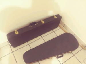 2 hard shell guitar cases $40 each