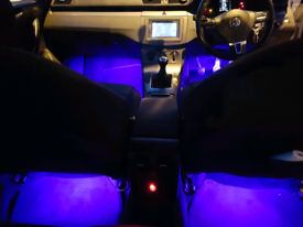 MOOD LIGHTING SUPPLIED AND FITTED TO ALL VEHICALS