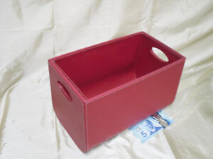 Sale $7.00  Leather look storage box with handles