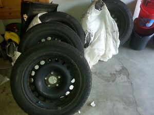 Winter Tires, Michelin X-Ice 2, set of four on rims Kitchener / Waterloo Kitchener Area image 1
