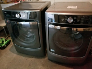 Maytag maxima front load washer and dryer