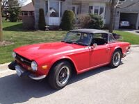 ONLY $8750 FIRM-----1975 TRIUMPH TR 6 ROADSTER,RUST FREE