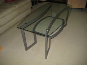 Glass Coffee Table and 2 Matching End tables