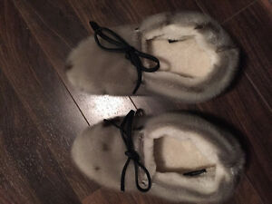 Mint Condition Seal Skin Slippers