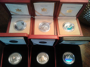 2003-2005 COMPLETE CANADIAN NATURAL WONDERS SIX COIN SET