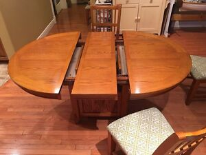 Round/Oval Dining Table with Leaf, 6 Chairs St. John's Newfoundland image 3