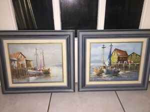 Two Nice Barbour Oil Painting on Canvas - Low Price to Sell