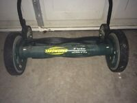 Yardworks push reel lawnmower