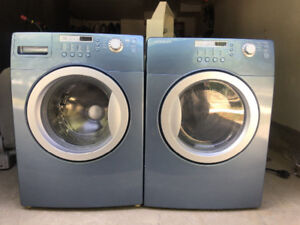 prada blue frontload glass washer electric dryer stackable****