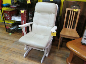 White Glider Chair For Sale at Nearly New!