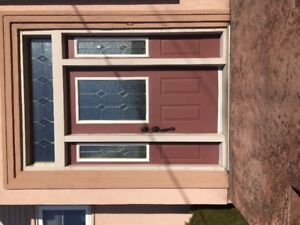 Front door/side lights/transom
