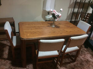 Unique Wood Dining Room Table and Chairs (REDUCED PRICE!)