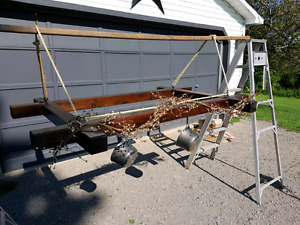 Hanging wood rack