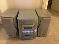 Panasonic 5 CD Changer, tape recorder & radio