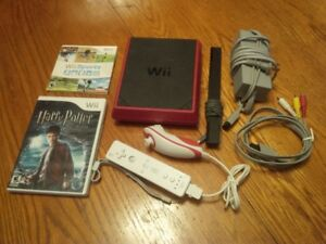 Wii Mini, Harry Potter, Wii Sports, Controller+Chuck, All Cables