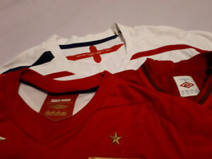 England Football/Soccer Shirts - Size Small and Medium