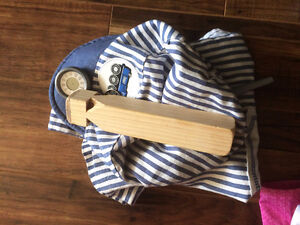 Train Conductor Kid / Child Costume with Real Wooden Whistle