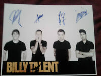 BILLY TALENT AUTOGRAPHED FULL BAND PHOTO