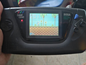 Original Sega Game Gear, with Sonic the Hedgehog Game