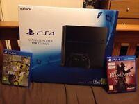 NEW Sealed 1tb PS4 + FIFA 17 + Bloodborne GOTY