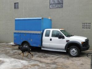 2008 FORD F550 SERVICE BOX 4DR. DIESEL 6.4