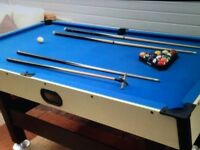 6ft by 3ft pool table