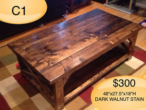 HANDMADE CUSTOM BUILT SOLID WOOD COFFEE TABLES