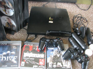 500 GB slimPS3 with 60+ games, eyecam, move, and two controllers