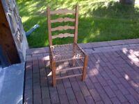 Chaise en babiche