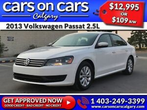 2013 Volkswagen Passat 2.5L w/Heated Seats, BlueTooth, Satellite