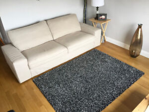 Very Thick & Soft Large Area Rug - lKEA, like new, dark grey