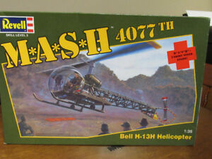 1:35 scale M.A.S.H. Bell H-13H helicopter Model Kit By Revell
