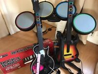 Rock Band and Guitar Hero accessory set PS3