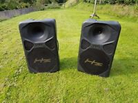 HZ Sound Systems HE300 2 x Loudspeakers - 1 needs repair