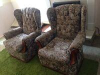 2 single seater sofa's
