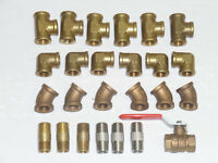 """3/8"""" Brass Threaded Pipe Fittings"""